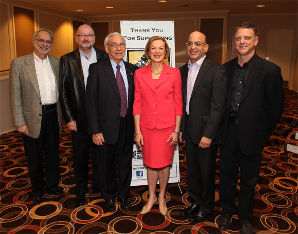 In Photo (L to R): WRI Board Members Bruce Snyder, Mark Christiansen, Dr. Edward Crandall; Dr. Elizabeth G. Nabel; WRI Board Members Jeffrey Goldstein, Jim Amos.